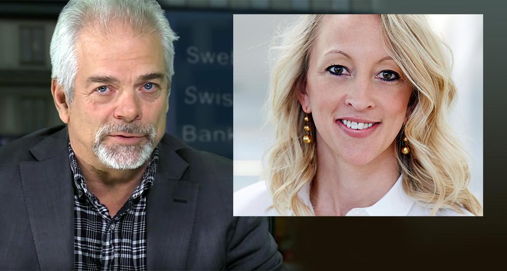 Google chefen Anna Wikland (foto:Cision.com) och SwebbTV:s Mikael Willgert. Montage: NewsVoice, baserat på pressfoton.