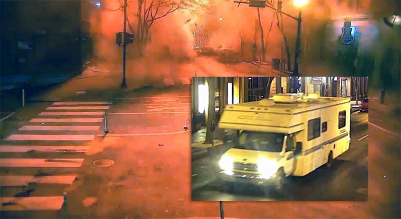 Nashville-explosionen, 25 dec 2020. Foto: Nashville Metropolitan Police Department