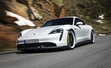 Porsche Taycan, elbil. Produktfoto: Porsche.se
