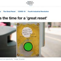 "World Economic Forum - The Great Reset: ""In every crisis, there is an opportunity."""
