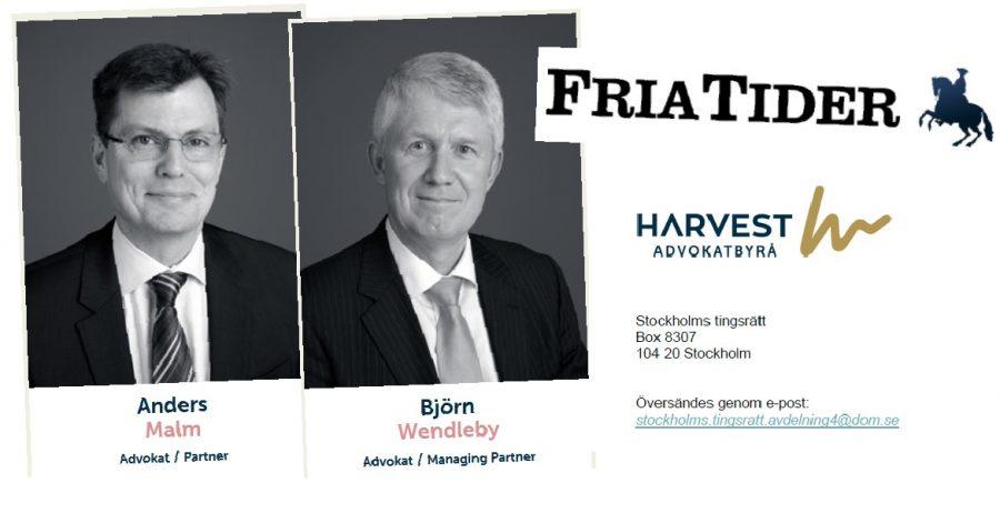 Anders Malm och Björn Wendleby på Harvest Advokatbyrå