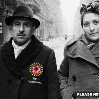 Vaccinerade och ovaccinerade. Originalfoto av Evgenii-Khaldeii (1940-talet)
