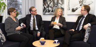 Ledningsgruppen på Revisorsinspektionen. Pressfoto: Revisorsinspektionen.se