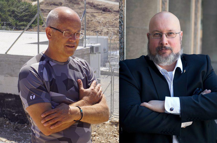 Torbjörn Sassersson (foto: NewsVoice) och Patrik Oksanen (pressfoto: Fri Värld)