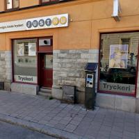 Tryckeriet JustNu på Åsögatan i Stockholm. Foto: Google Maps