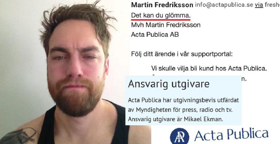 Martin Anders Fredriksson Acta Publica