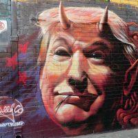 Trump som demon. Foto: Ralf Genge. Licens: Pixabay.com