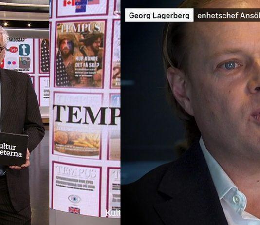 Enhetschef Georg Lagerberg på MPRT (25 feb 2021). Bild: SVT Play. Montage: NewsVoice