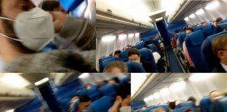Bilder från KLM-flygning, feb 2021. Montage: NewsVoice