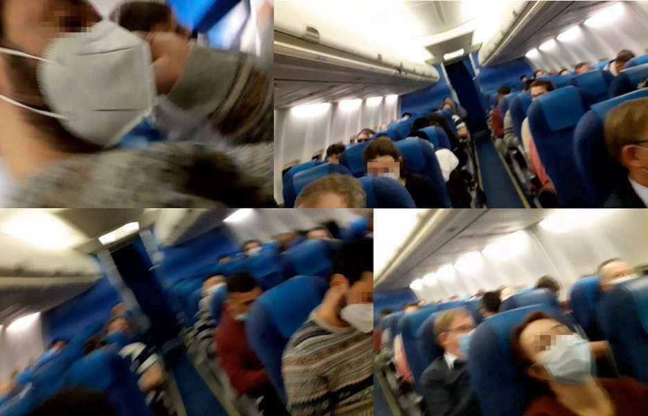 Bilder från KLM-flygning, feb 2021. Montage: NewsVoive