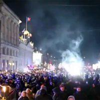 Demonstrationer i Köpenhamn mot coronarestriktioner i Danmark, 6 feb 2021. Foto: Ruptly.com