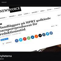 SVT zoomar in NewsVoice för att forcerat koppla NewsVoice till hot, hat och våld.