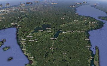 Sverige. Bild: Google Earth