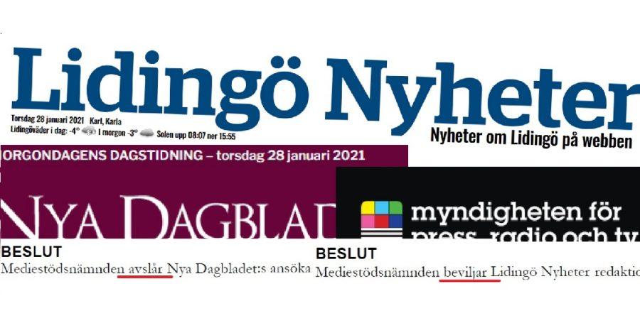 Lidingö Nyheter fick redaktionsstöd