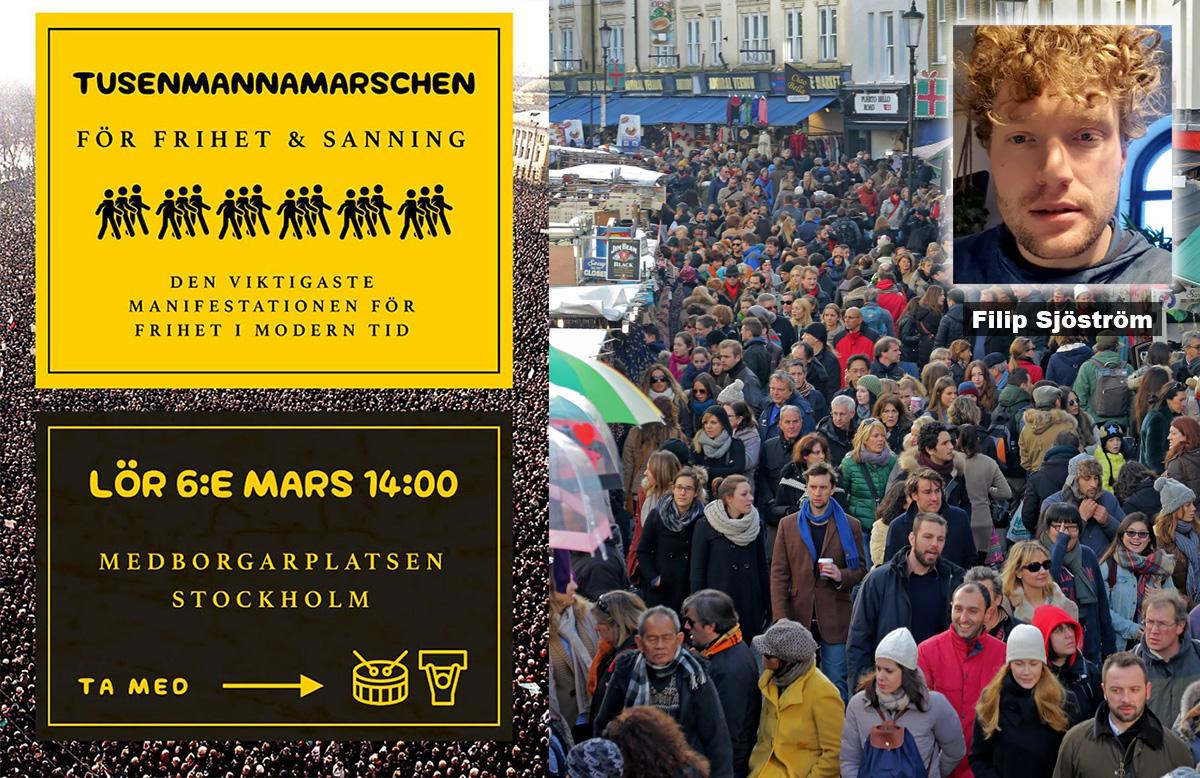 Tusenmannamarschen den 6 mars 2021