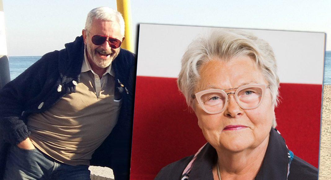 Jan Norberg (foto: NewsVoice) och Eva Eriksson, SPF Seniorernas förbundsordförande (foto: Tomas Södergren för SPF)