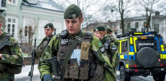 Livgardets krigsförband, Stockholm. Pressfoto: Försvarsmakten