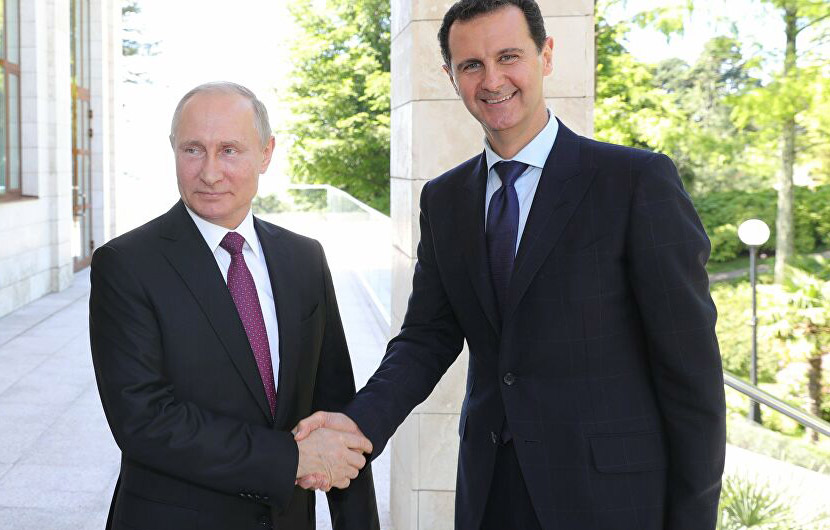 Syrian President Bashar al-Assad paid an official visit to the Russian city of Sochi. 17 May 2018. Photo: Sputnik News