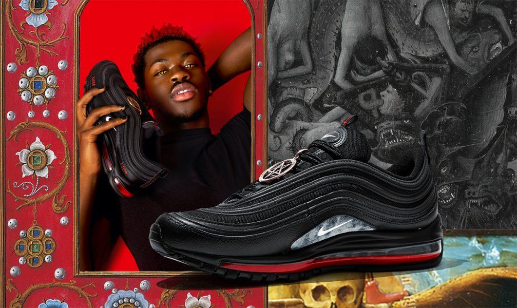 Satans shoes (med märket Nike) och rapparen Lil Nas X