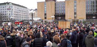 Tusenmannamarschen på Medborgarplatsen den 6 mars 2021. Foto: NewsVoice.se