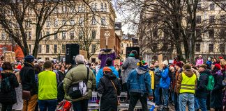 Demonstration i Stockholm. Foto: Gamma Man. Licens: Mostphotos.com