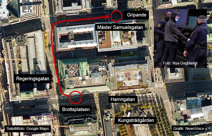 Tusenmannamarschen Hamngatan. BIld: Google Maps