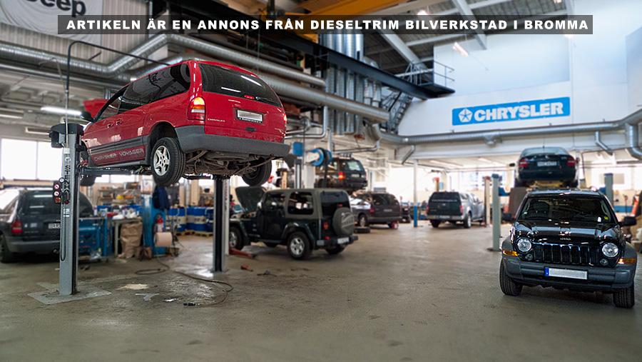 Bilverkstad för Fiat. Foto: Diesltrim.se