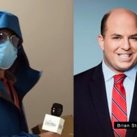 Brian Stelter (chief media correspondent på CNN). Montage: NewsVoice. Foto: Project Veritas och CNN