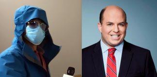 Brian Stelter (chief media correspondent på CNN). Montage: NewsVoice. Foto: Project Veritas och CNN