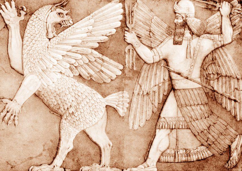 Marduk Tiamat Battle from Enuma Elish