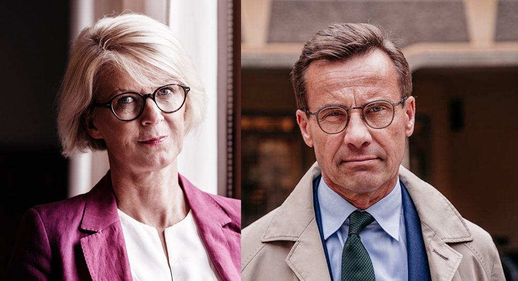 Bildmontage med: Ulf Kristersson och Elisabeth Svantesson (M). Pressfoto: Axel Adolfsson