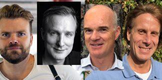 Läkarna: Nils Littorin, Sebastian Rushworth, Sven Román och Hans Zingmark.