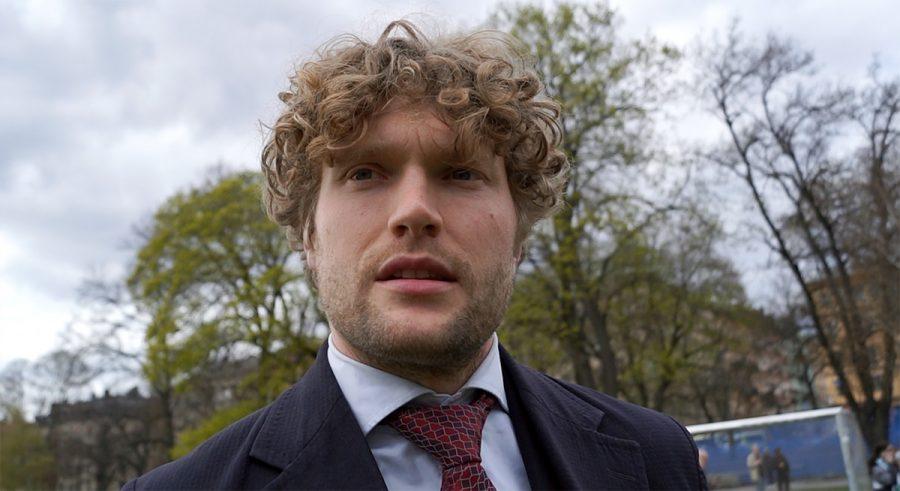 Filip Sjöström, 1 maj 2021. Foto: Newsvoice.se