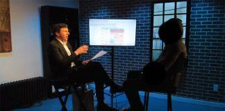 James O'Keefe intervjuar Facebook-insider, maj 2021. Foto: Project Veritas