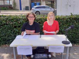 Glen Dormer och anna Åsberg, 22 juni 2021. Foto: NewsVoice.se