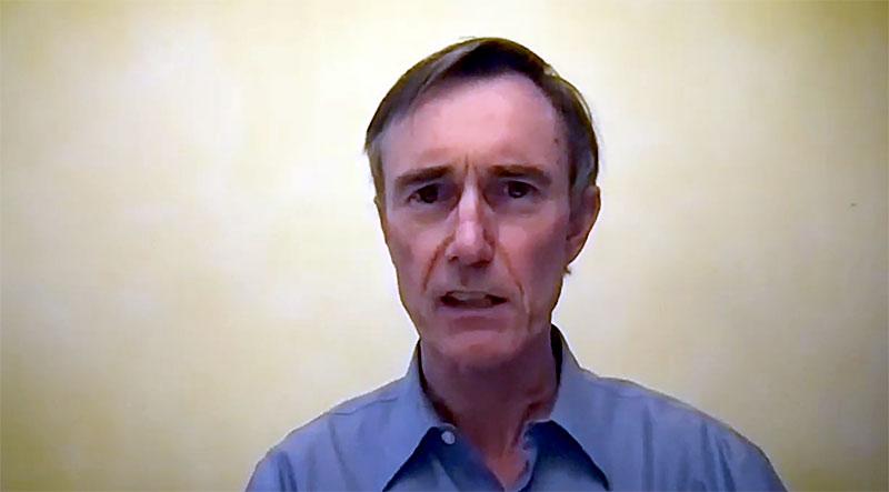 Dr Charles Hoffe är kritisk till Modernas covidvaccin. Foto: egen webbkamera