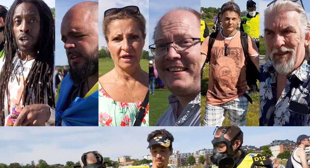 Fotbollsmatch på Gärdet 6 juni 2021. Foto och montage: NewsVoice.se