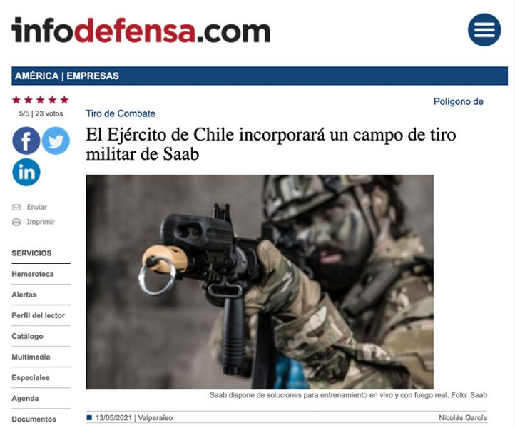 InfoDefensa.com. Foto i skärmdump: SAAB