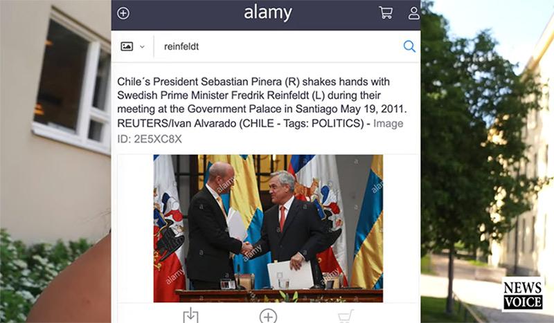 Fredrik Reinfeldt gjorde affärer med Piñera. Foto i skärmdump: Alamy