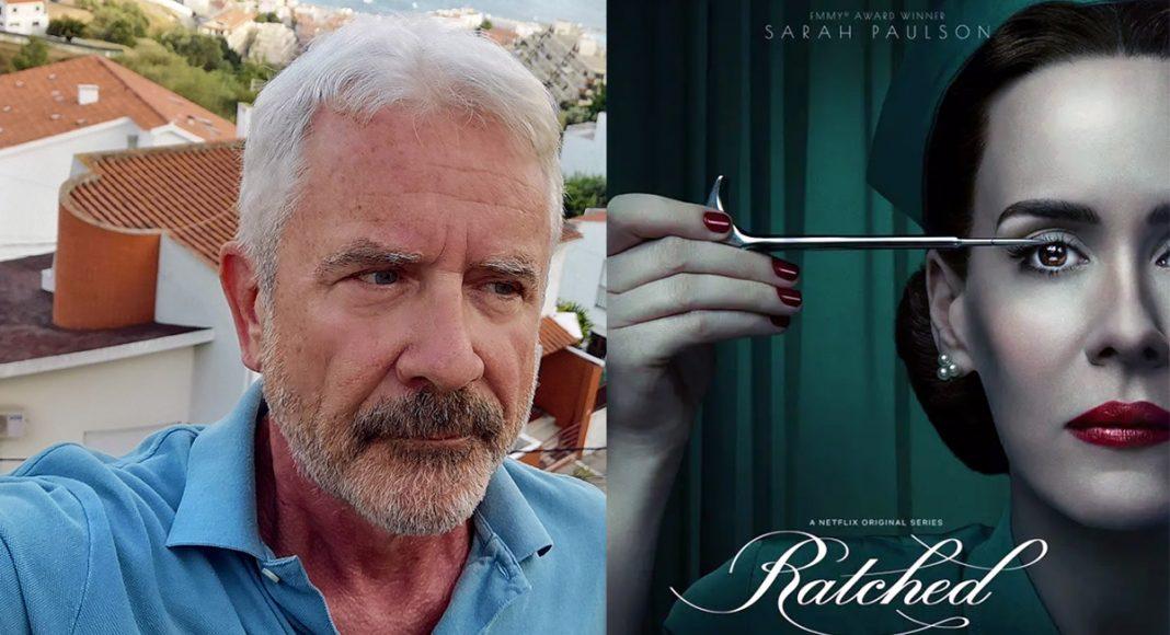 Jan Norberg (selfie) och filmkaraktären Nurse Ratched...