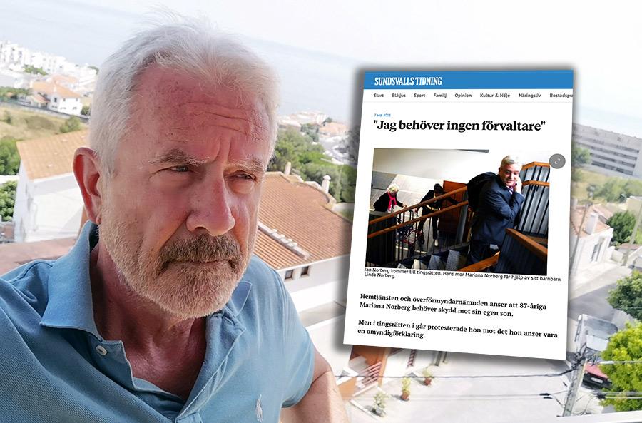 Jan Norberg (selfie) och skärmdump från ST.nu. Montage: NewsVoice
