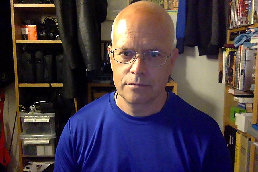 Torbjörn Sassersson, 13 juli 2021. Foto: Selfie