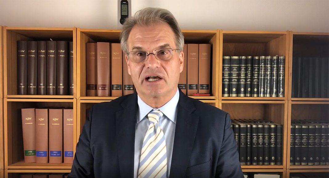 Dr Reiner Fuellmich, 16 sep 2021. Foto: eget verk