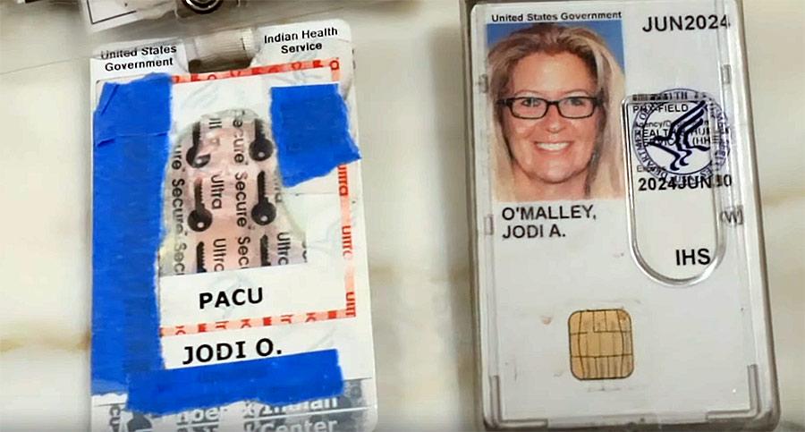 ID of Jodi A. O'Malley, nurse. Photo: Project Veritas