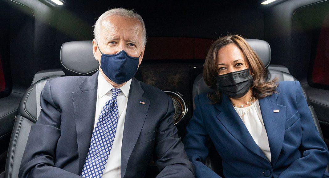 Joe Biden och Kamala Harris. Licens: Pressfoto: Adam Schultz Public Domain