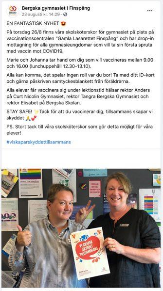 Marie och Johanna Hejdeström, Bergska Gymaniset, Finspång