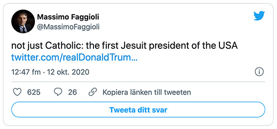"""Massimo Faggioli: """"not just Catholic: the first Jesuit president of the USA"""""""