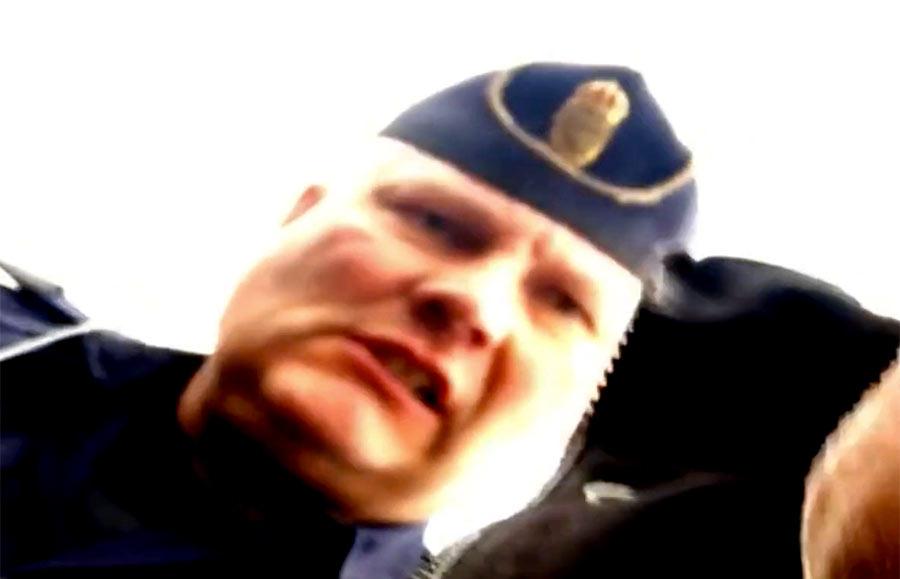 Västerås-polis, 23 sep 2021. Foto: Börje Peratt