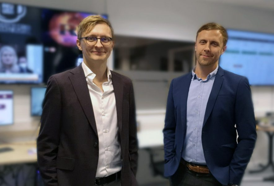 Nya Dagbladets redaktion, oktober 2021. I bild Isak Boman och chefredaktör Markus Andersson
