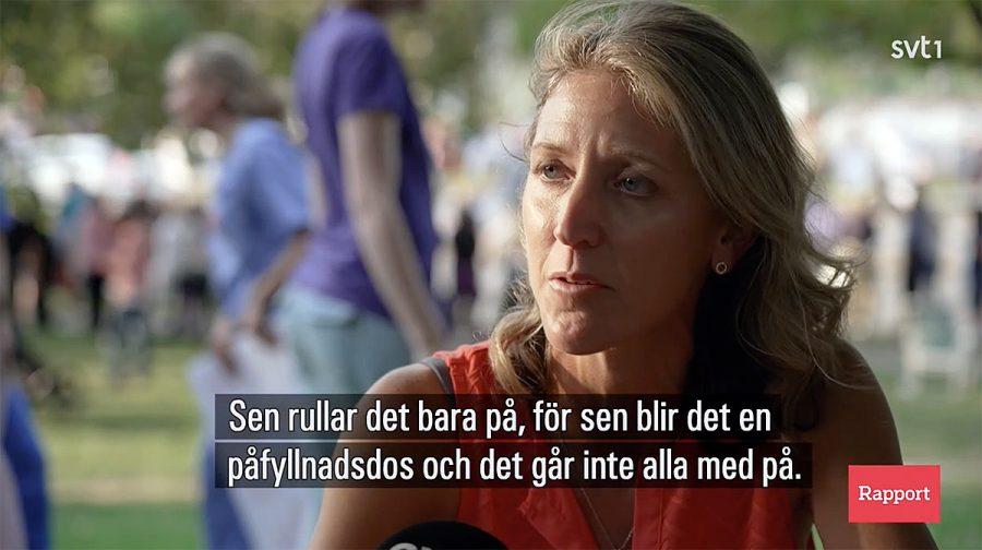 Sara Parker, läkare i New York. Foto: SVT1 Rapport